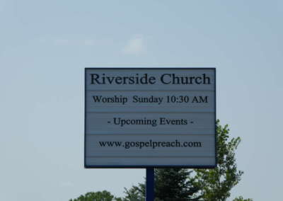 Riverside Church Sign
