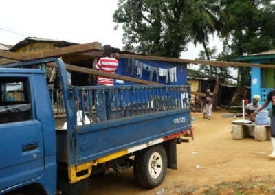 Loading truck for transport