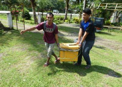 Bringing on portable generator