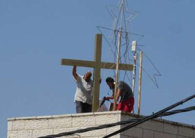 Securing Cross to roof