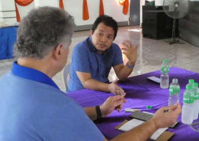 Pastor Bill interviewing Pastor Derio