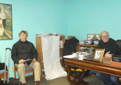 Pastor Bill interviewing Pastor Steve